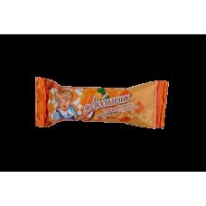Сырок творожный глазированный в шоколадной глазури с персиком 16,5 (в творожной основе12%) Пленка